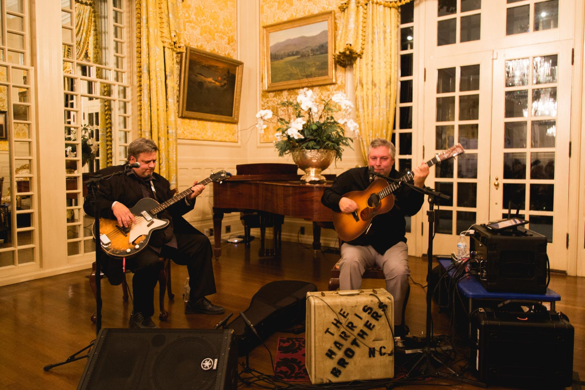 The Harris Brothers performing at the Executive Mansion