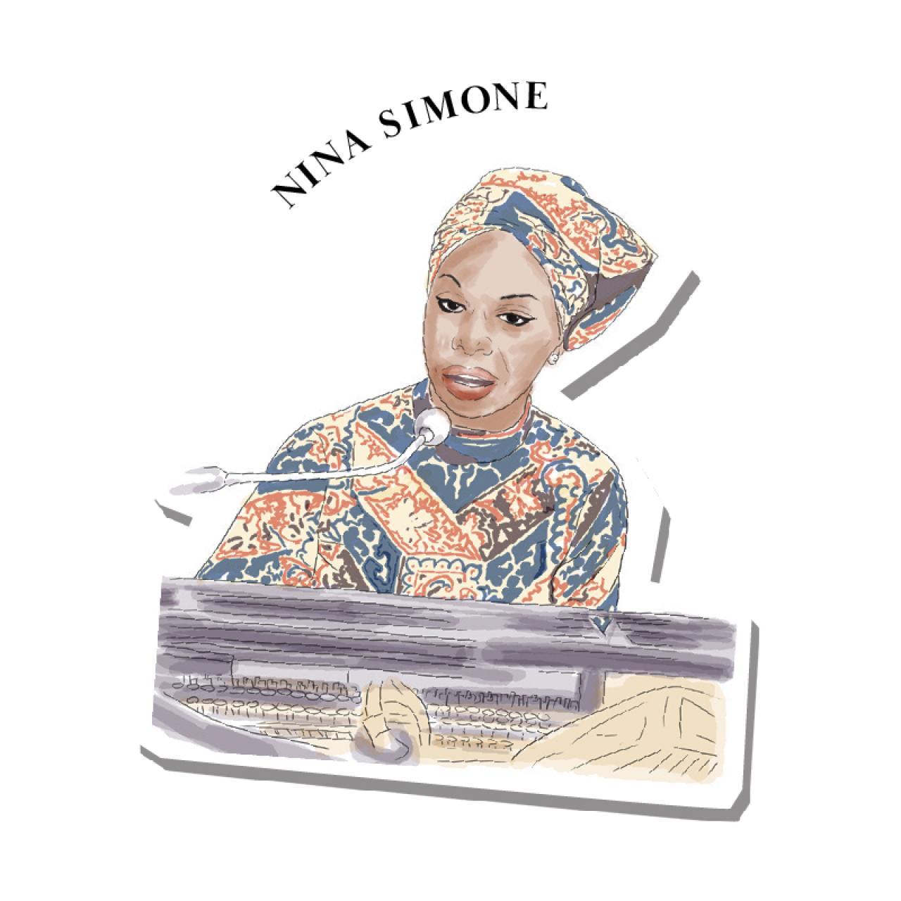 An illustration of Nina Simone