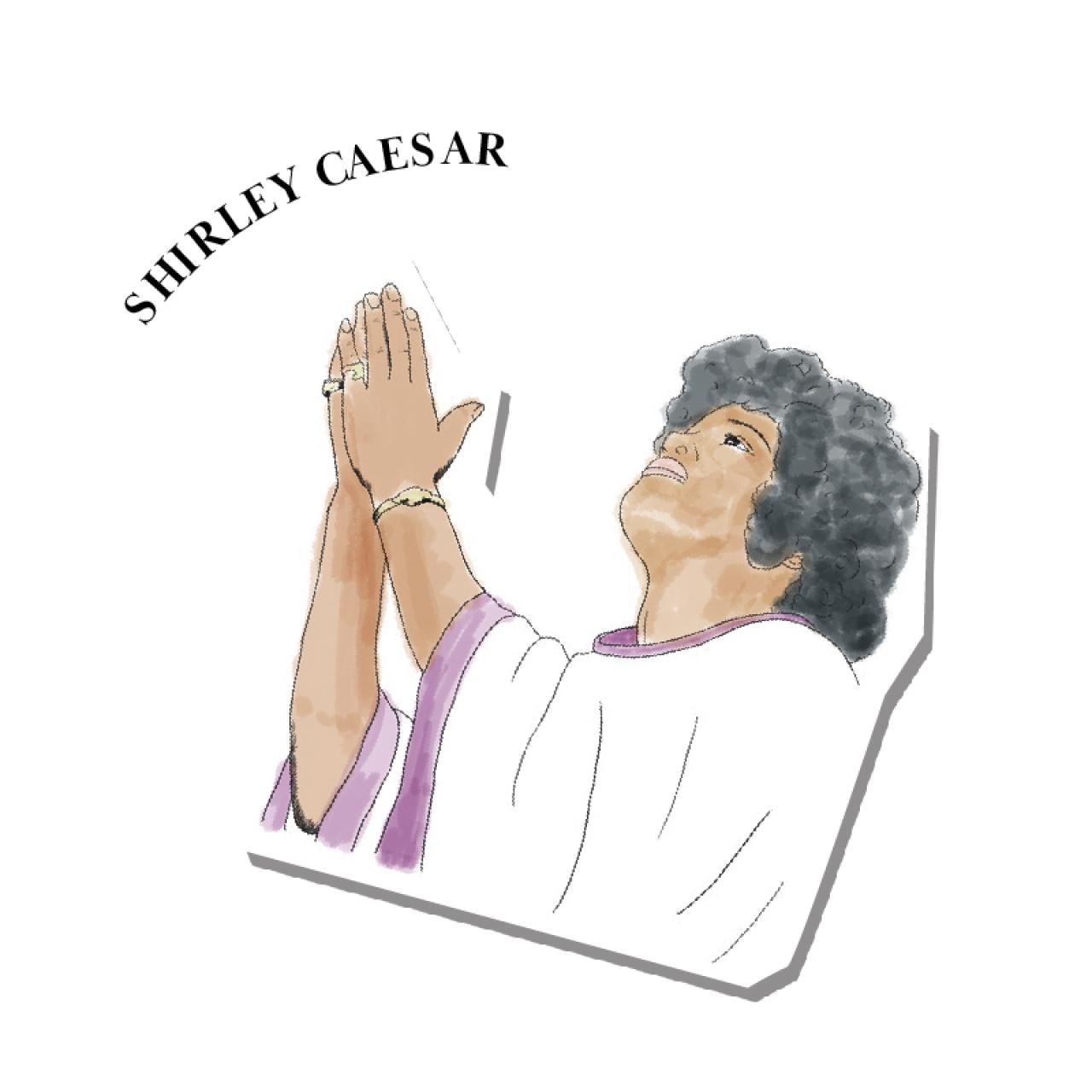 An illustration of Shirley Caesar
