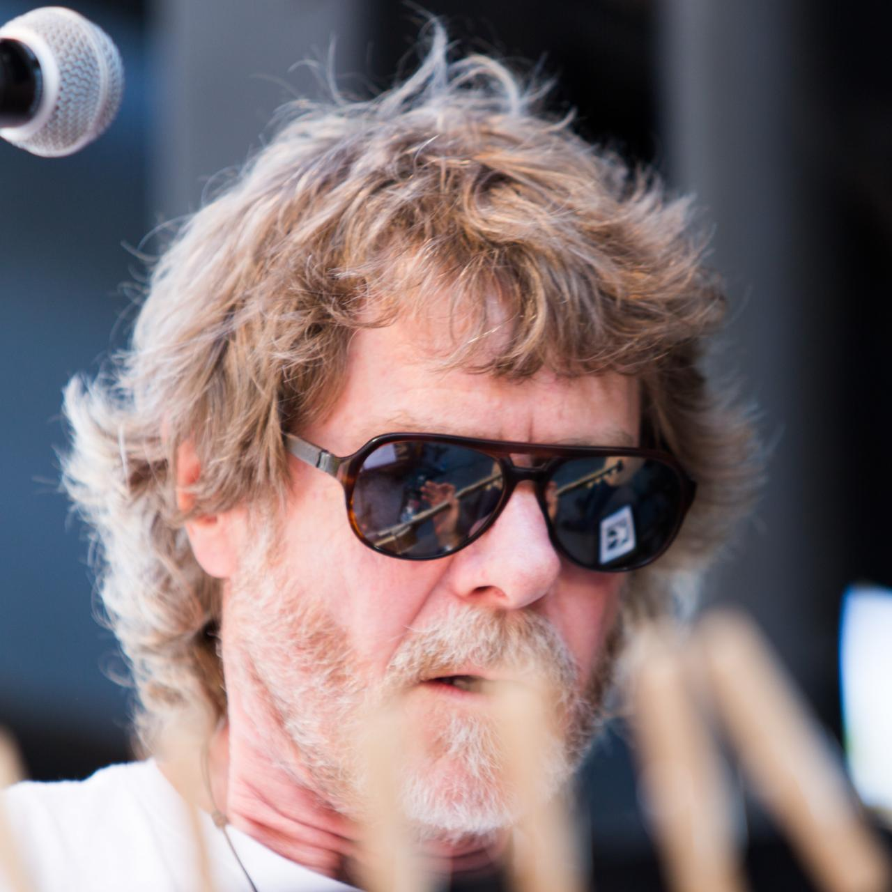The MerleFest view according to Sam Bush. Photo by Sandra Davidson