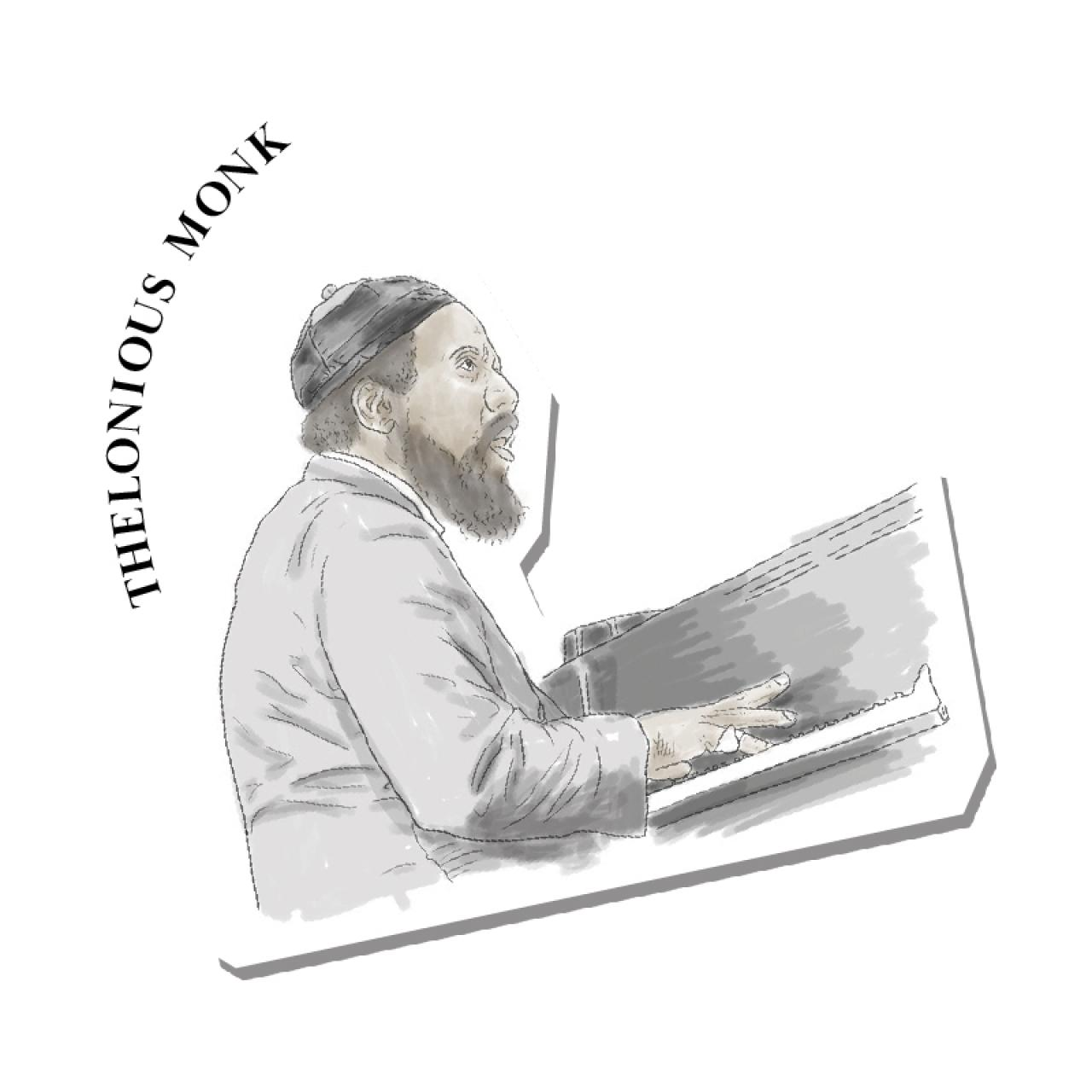 An illustration of Thelonious Monk