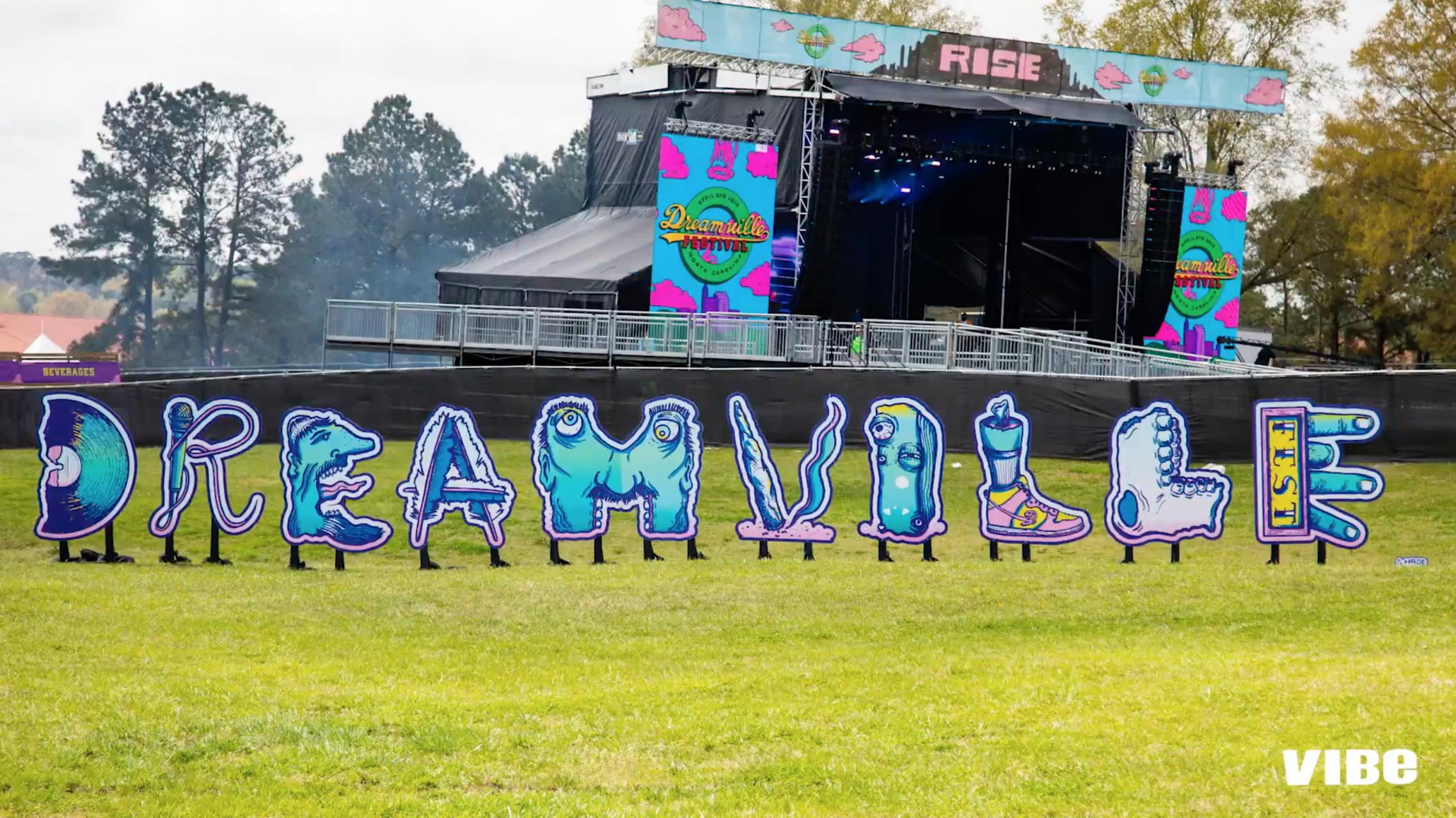 Custom art for J. Cole's Dreamville Festival