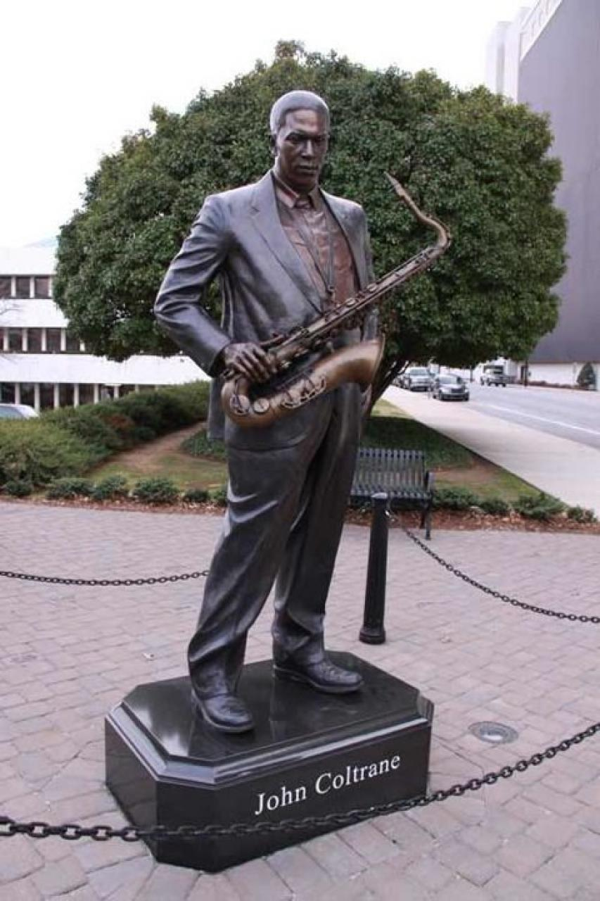 John Coltrane statue in downtown High Point | Photo Credit: The Friends of John Coltrane