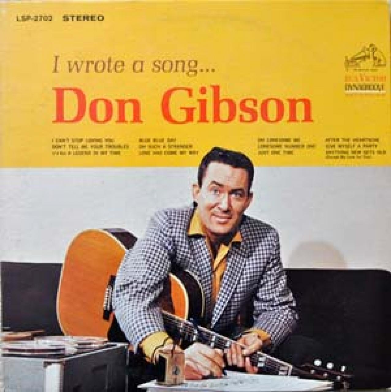 "Don Gibson ""I Wrote A Song"" Album Cover"