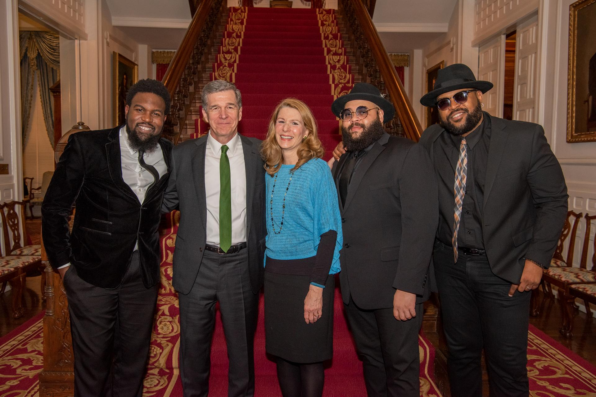 The Hamiltones with Governor Roy Cooper and First Lady Kristin Cooper