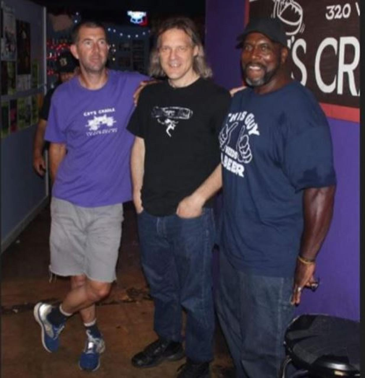 Almost 100 years of collective Cat's Cradle work experience pictured here. From left: Derek Powers (26 years), Frank Heath (34 years) and Billy Johnson (38 years). Photo courtesy of Derek Powers.