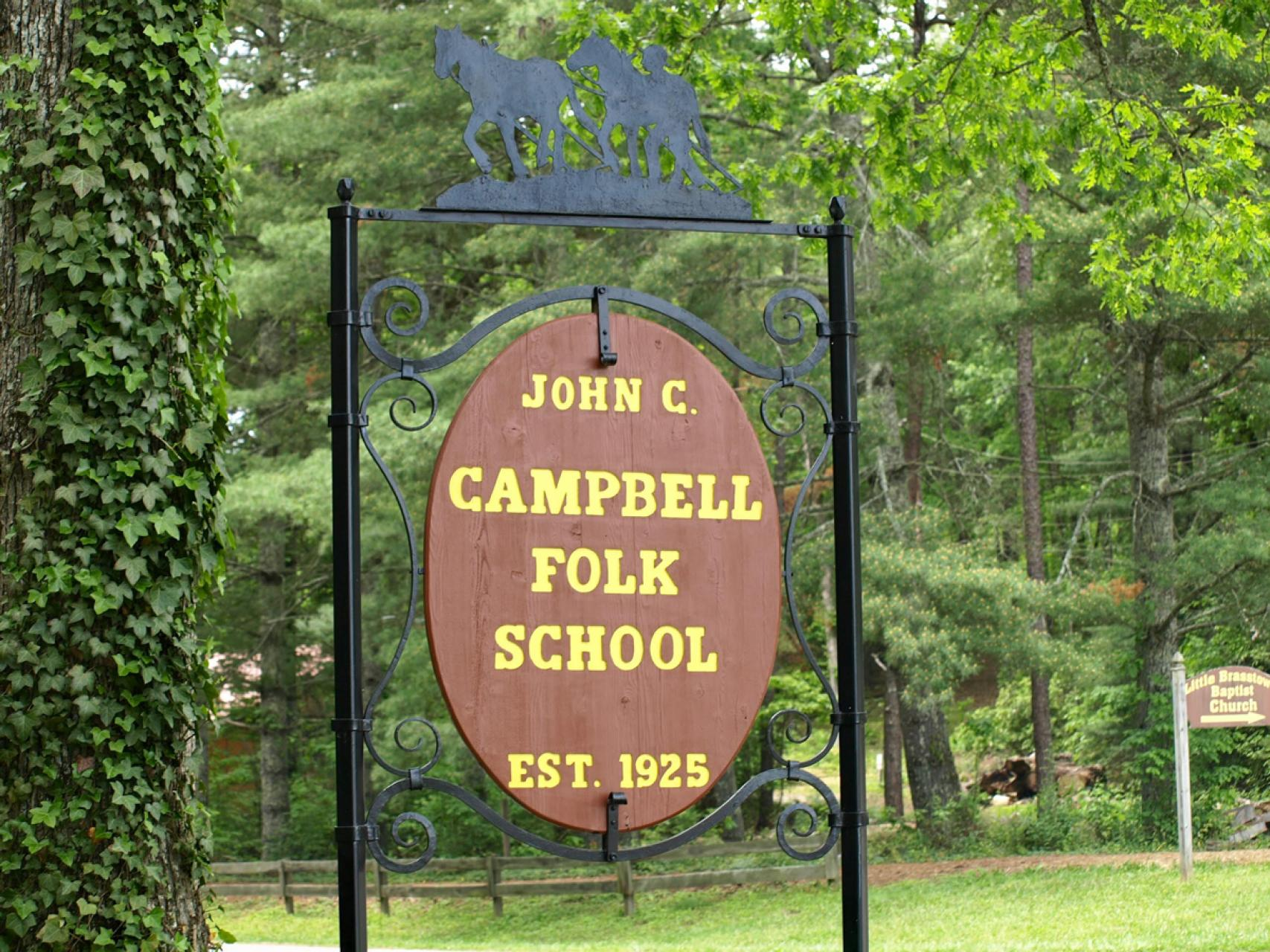 John C Campbell Folk School sign