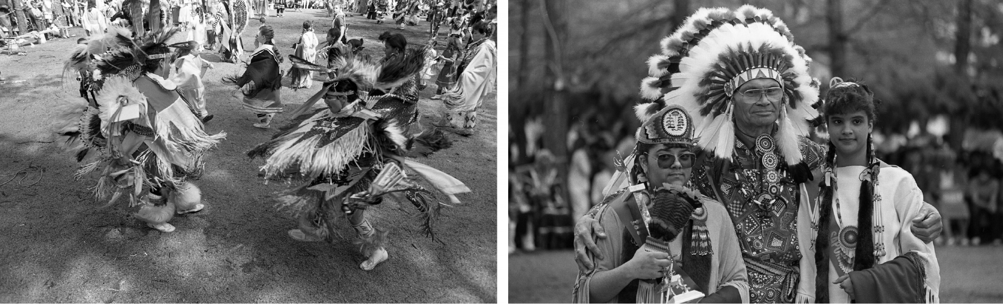 24th annual Haliwa-Saponi Pow Wow near Hollister, NC; 16 April 1989. From the News and Observer Negative Collection, Copyrighted by the N&O.