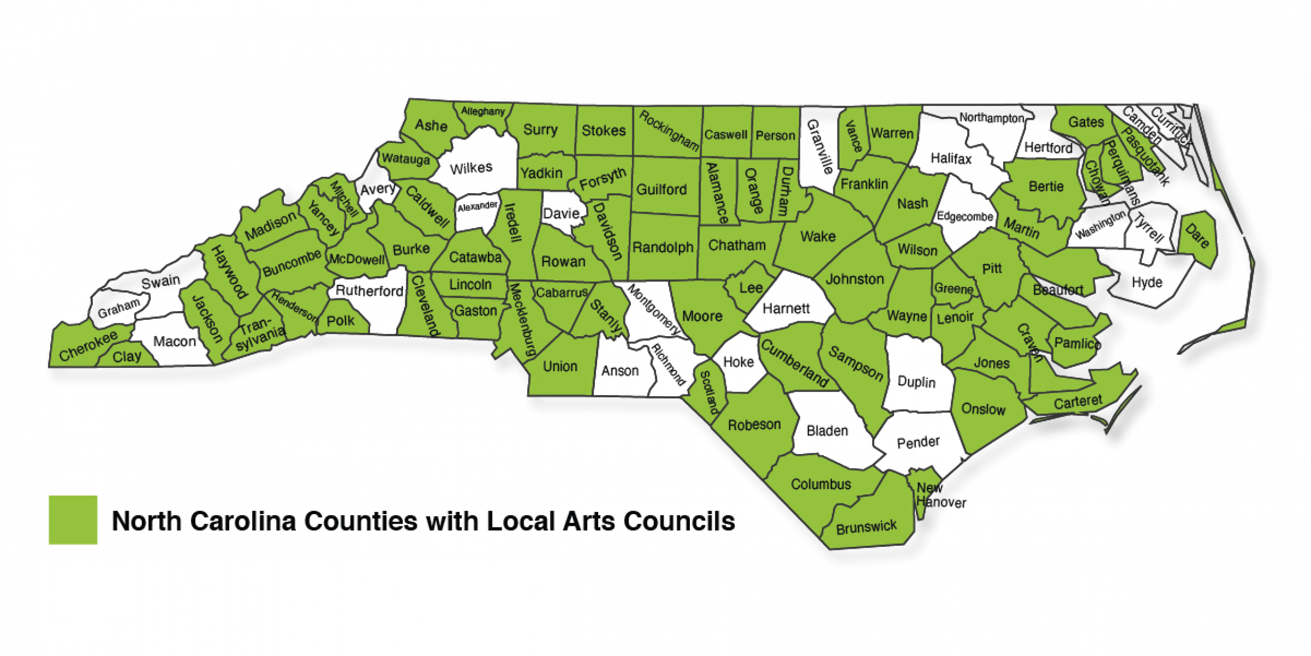 Local Arts Councils in NC as of 2020