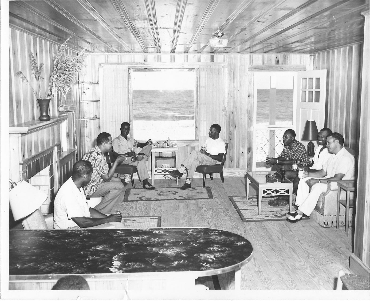 A group gathering in their beach house