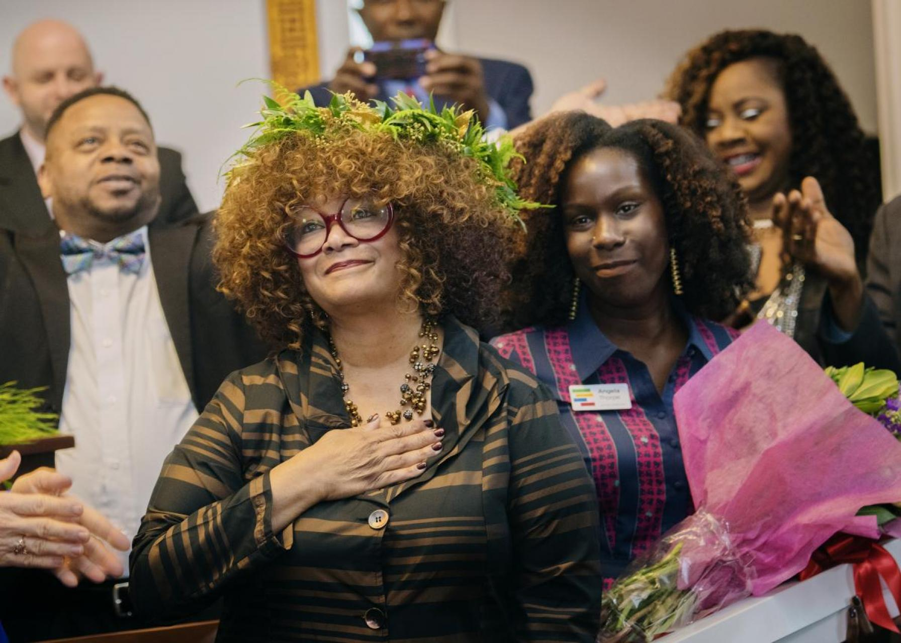 Jaki Shelton Green at her induction ceremony
