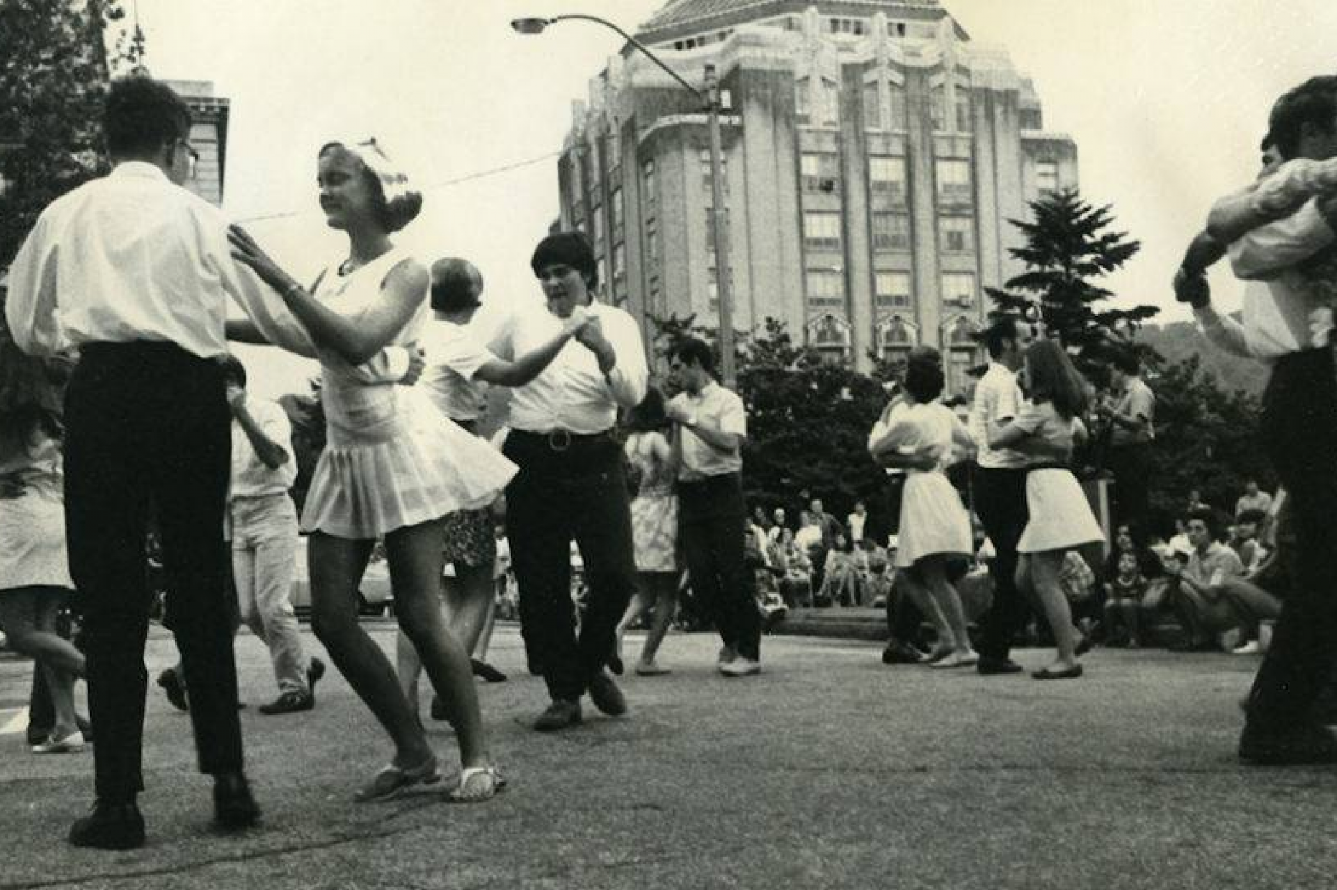 Archival photo of dancers at Shindig on the Green