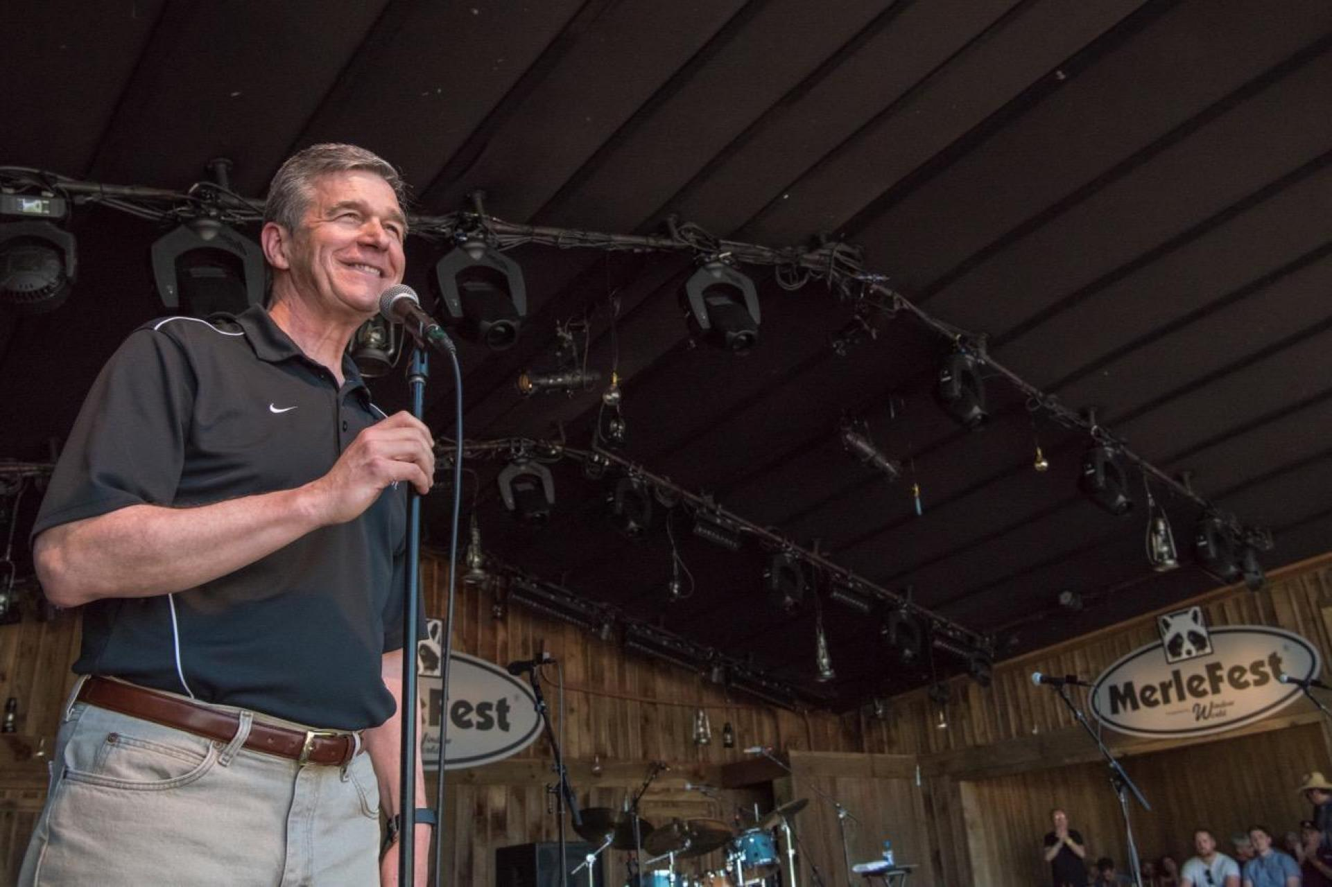 Governor Roy Cooper at MerleFest 2019