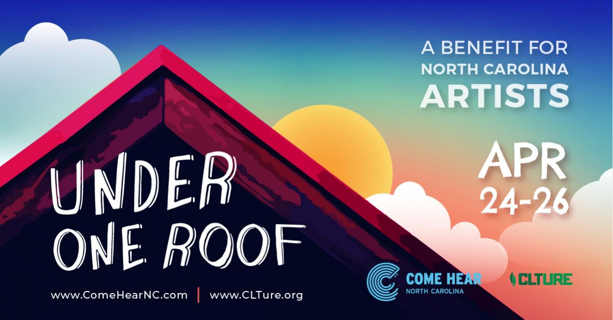 Under One Roof - roofline with sunset in the background