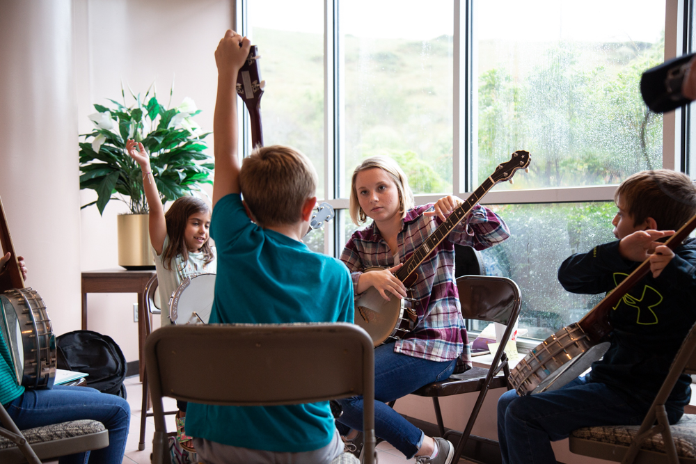 Madison Shepard teaches a Traditional Arts Program for students in Ashe County, N.C.