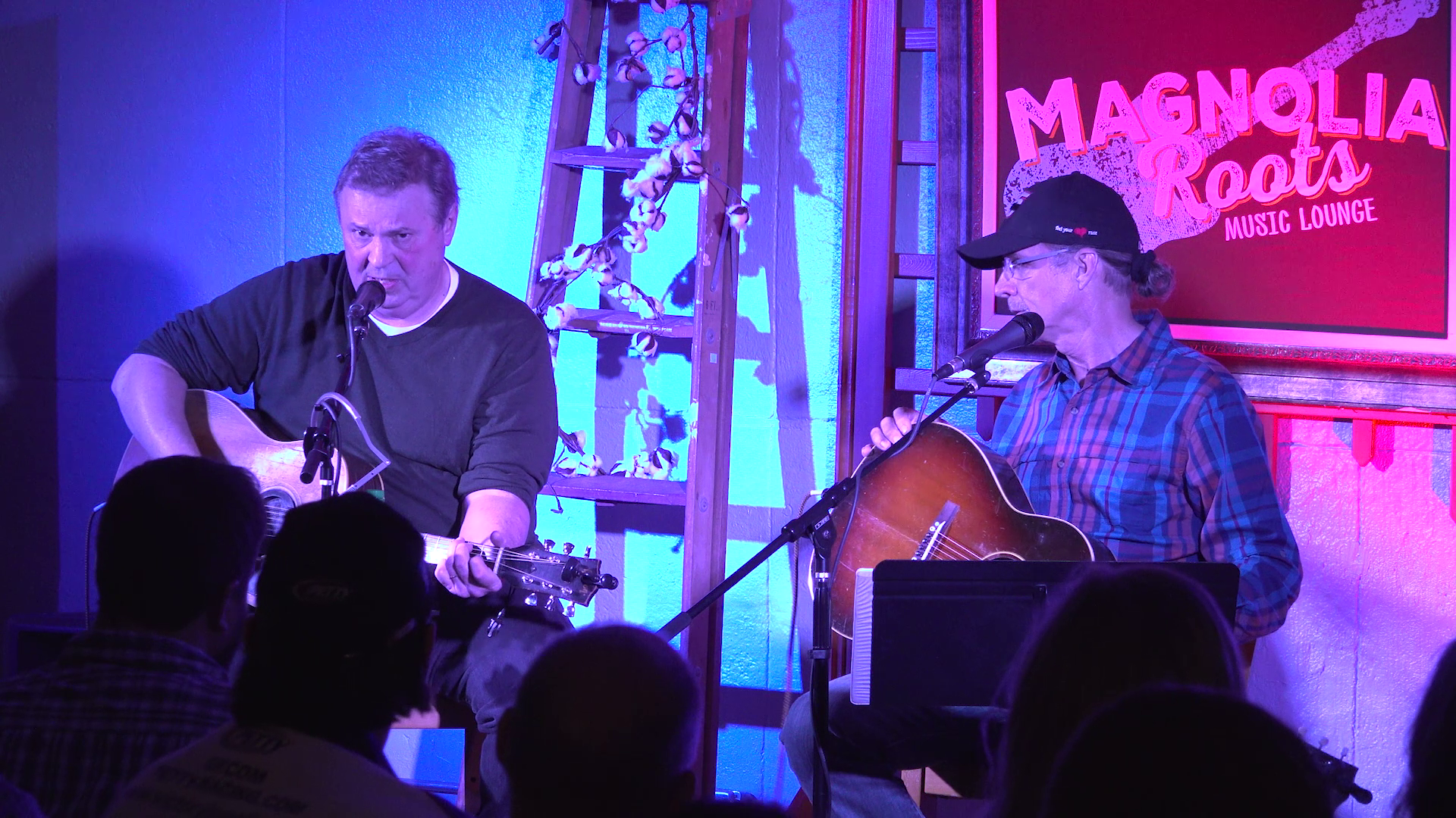 David Childers performing at Magnolia Roots Music Lounge with Kyle Petty