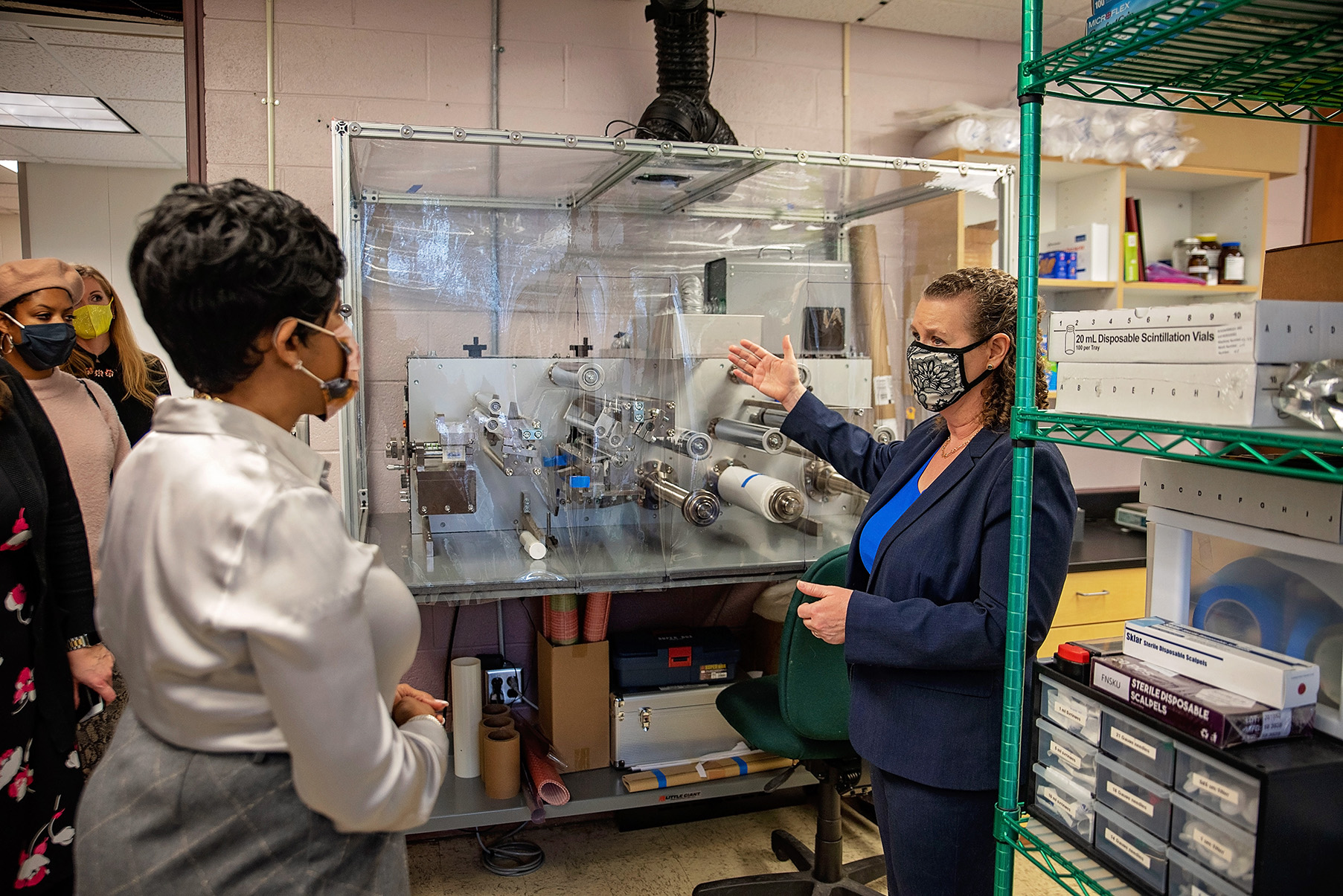 Secretary Sanders learned more about NALA Systems work to develop new reverse osmosis membranes for water desalination.