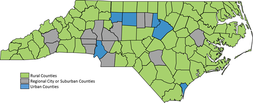 NC Commerce: Rural Center Expands Its Clification of ... on map sc c, map of north a, map of north carolina,