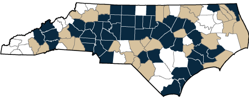 North Carolina Metro/Micro County Designation Map