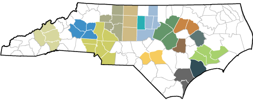 North Carolina Metropolitan Statistical Areas Map
