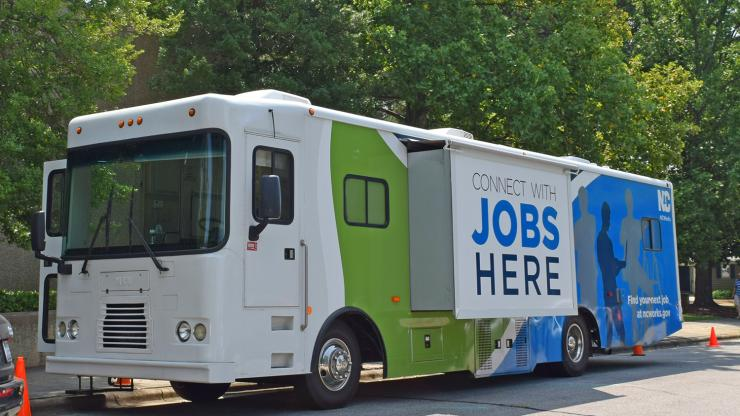 NCWorks Mobile unit parked at an event