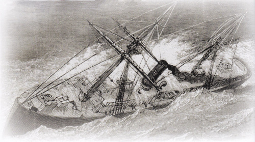 A sketch of the sinking of the Metropolis.