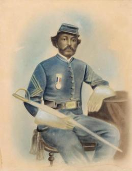 This is a drawing from 1865 depicting Parker Robbins of Bertie County.