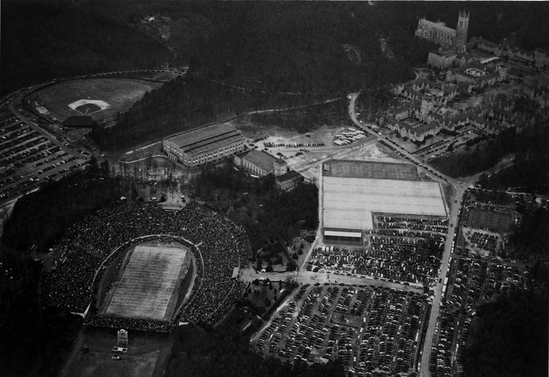 This is a picture of Duke Stadium during the 1942 Rose Bowl.