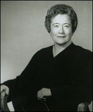 A portrait of the first female Supreme Court justice in North Carolina.