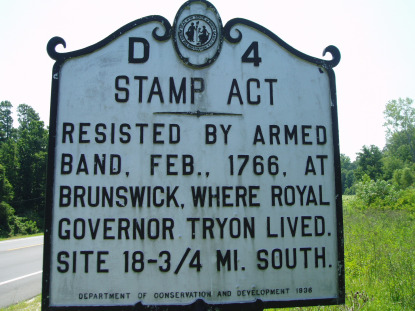 Stamp Act Historic Marker