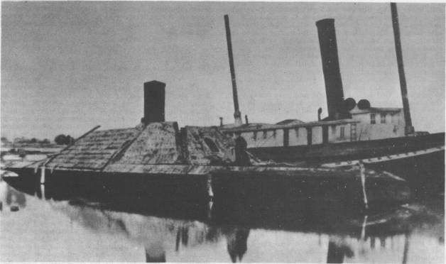 The ironclad Albemarle after being raised by federal troops. Image from the U.S. Navy History and Heritage Command.