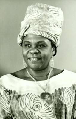 Angie Brooks when she was president of the United Nations General Assembly.