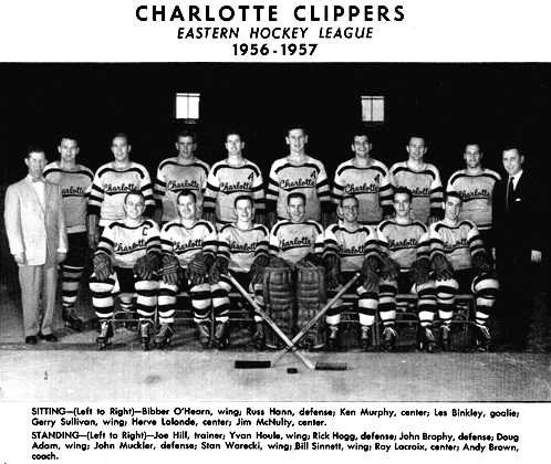 Charlotte Clippers Easter Hockey League Team (1956-1957)