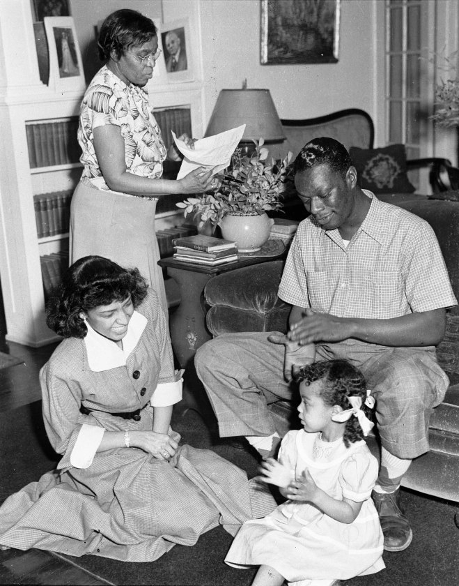 Dr. Charlotte Hawkins Brown, Nat King Cole and family