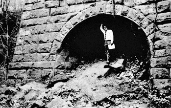 The Endor Iron Furnace in the 1950s. Image from the Railroad House Historical Association.