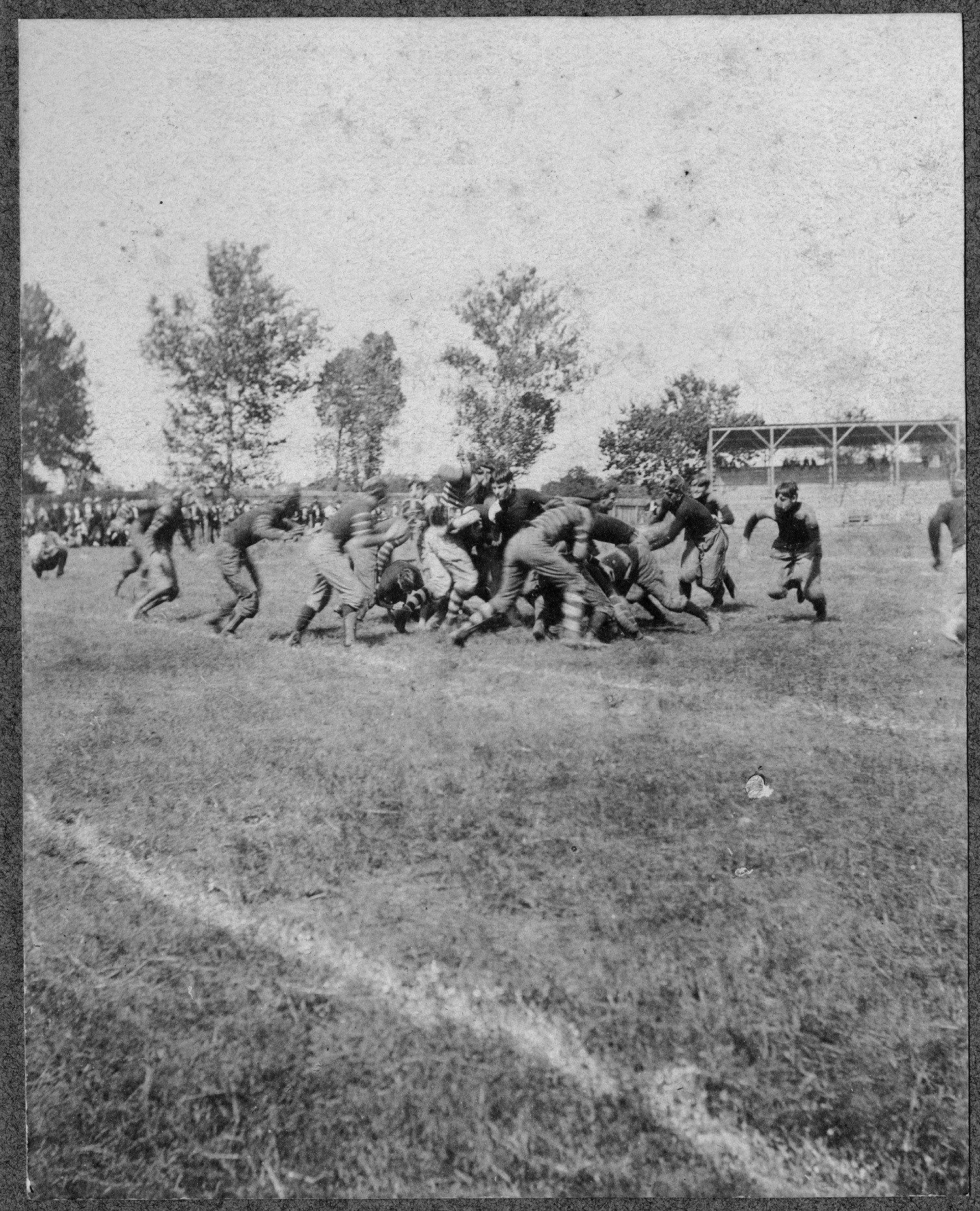 A football game in the early 1900s. Image from the North Carolina Collection at UNC.