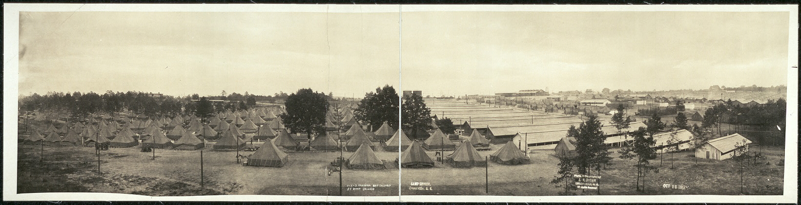 30th Division Sanitation Practices at Camp Sevier 1917   NC DNCR