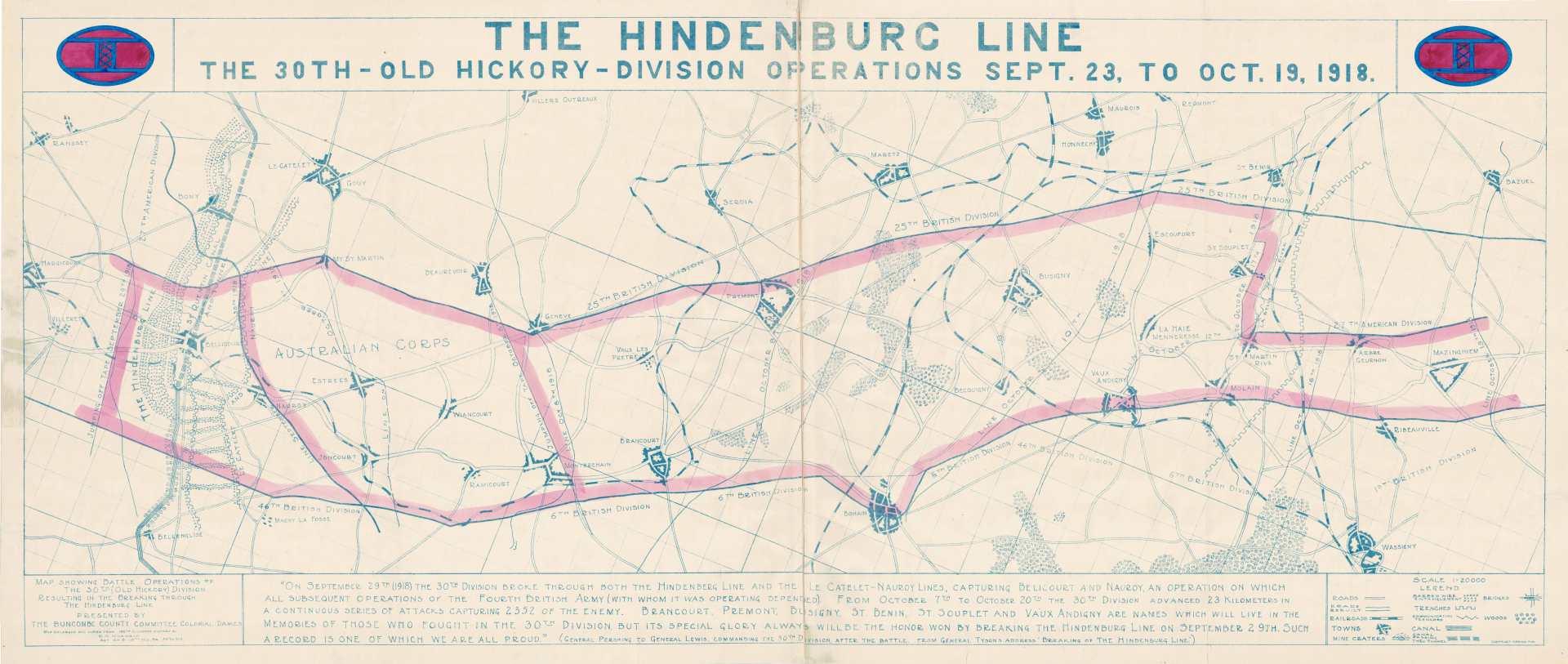 120th Infantry Breaks Hindenburg Line | NC DNCR
