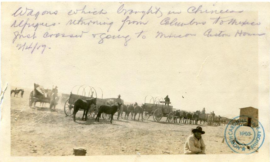 Chinese refugee wagons U.S. Army