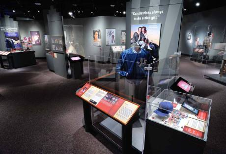 Artifacts from Bull Durham in the N.C. Museum of History's Starring North Carolina! exhibition.