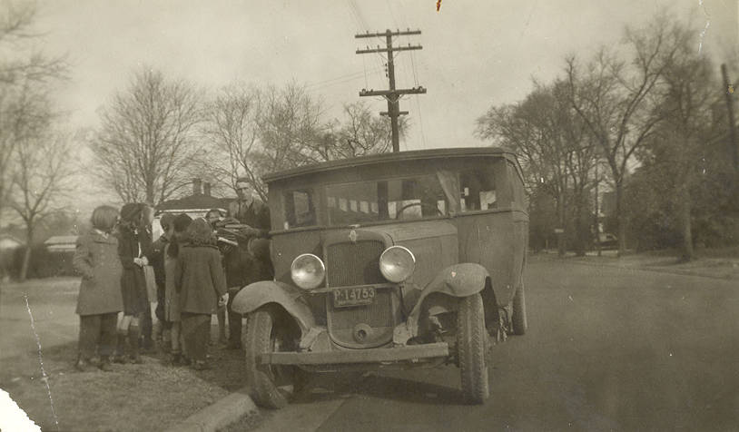 An Anson County library bookmobile, circa 1937
