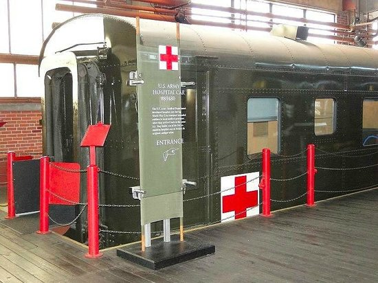 The restored hospital car at the N.C. Transportation Museum in Spencer
