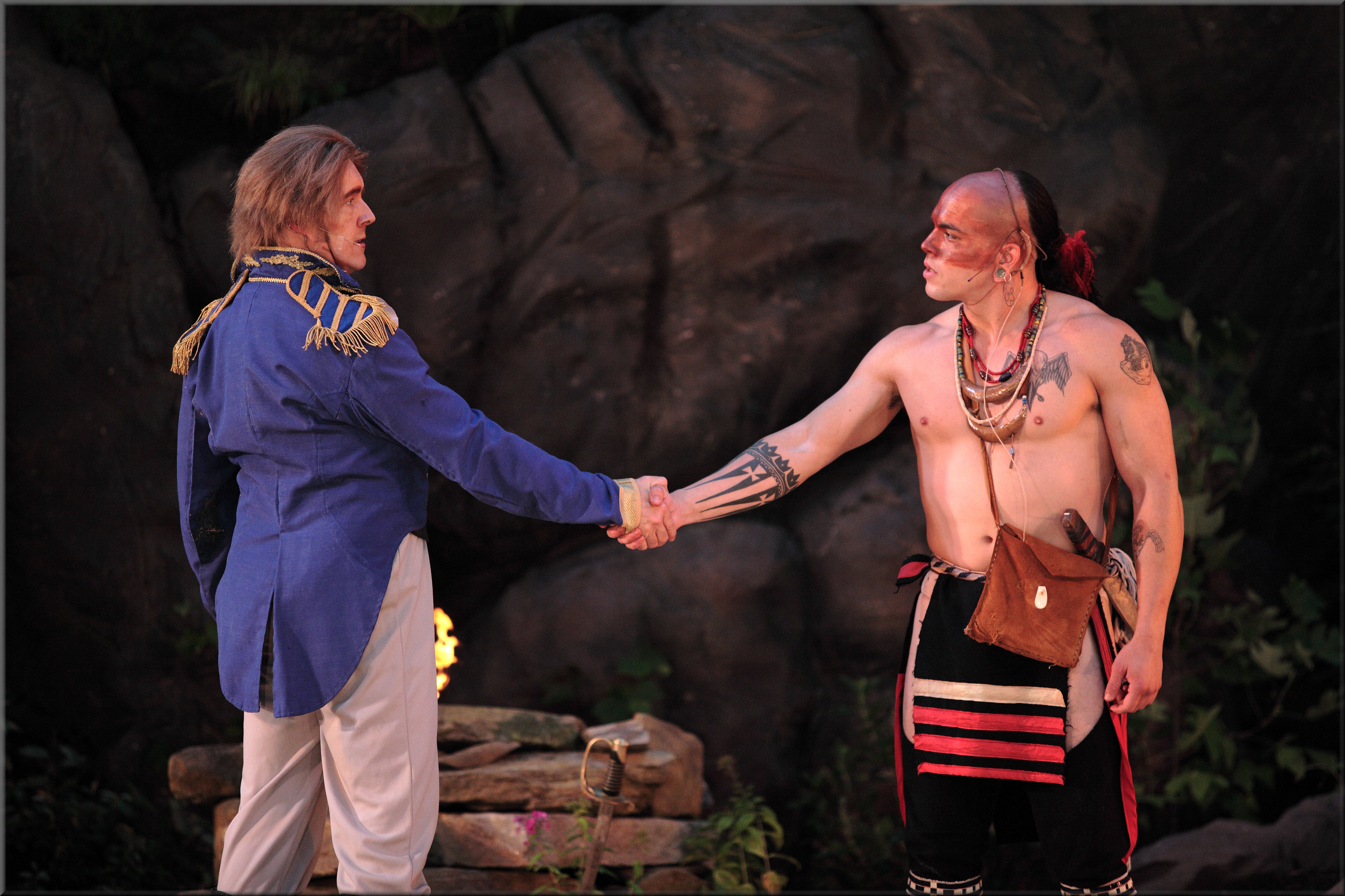 "A scene from ""Unto These Hills,"" performed annually in Cherokee"