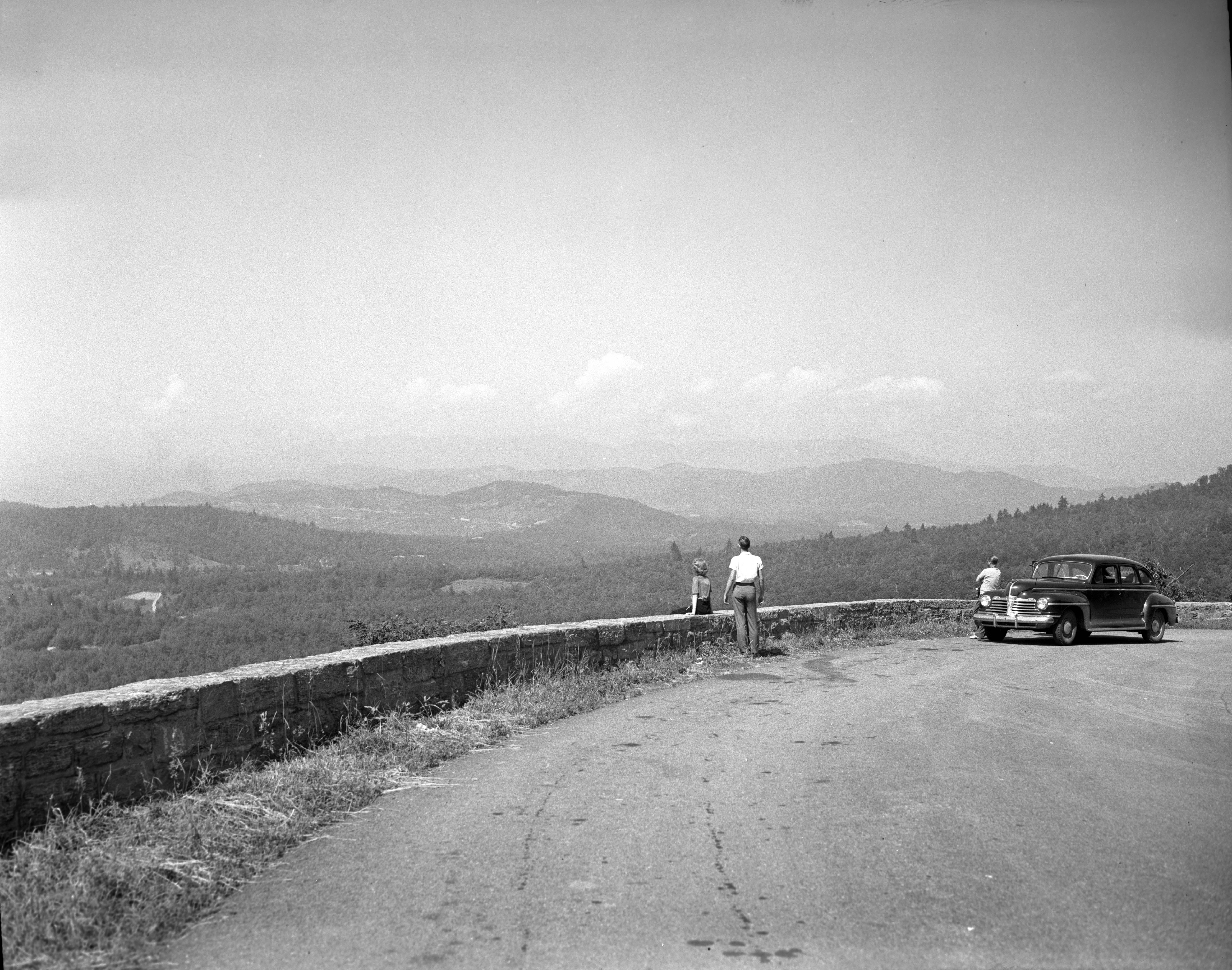 A section of the Blue Ridge Parkway in Yancey County in June 1945. Photo from the State Archives.