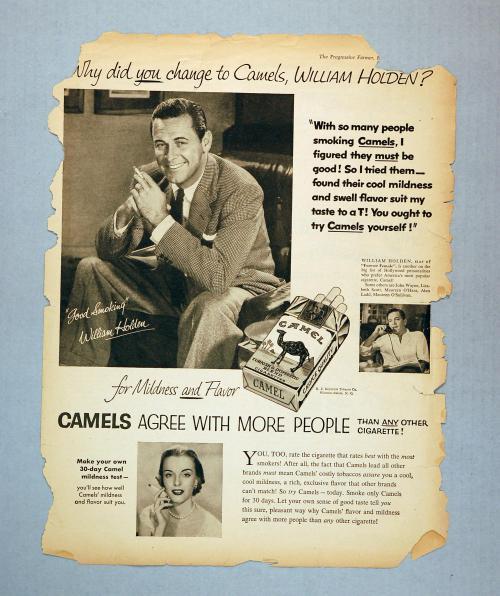 William Holden Camel ad