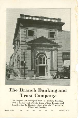Branch Banking and Trust Company 1887