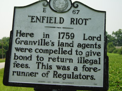 Enfield Riot Historical Marker