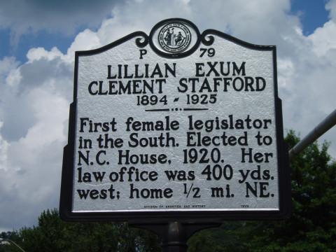 First Female Legislator in the South, Lillian Exum in North Carolina's House of Representatives