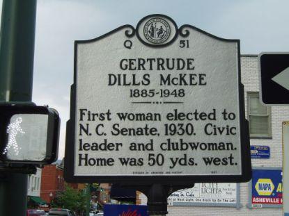 Gertrude Dills McKee's North Carolina Historical Marker