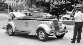 A 1935 Highway Patrol vehicle that is now part of the collection at the N.C. Transportation Museum in Spencer